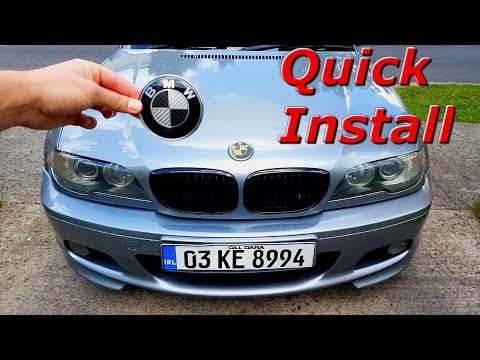 BMW Hood and Trunk Emblem Replacement