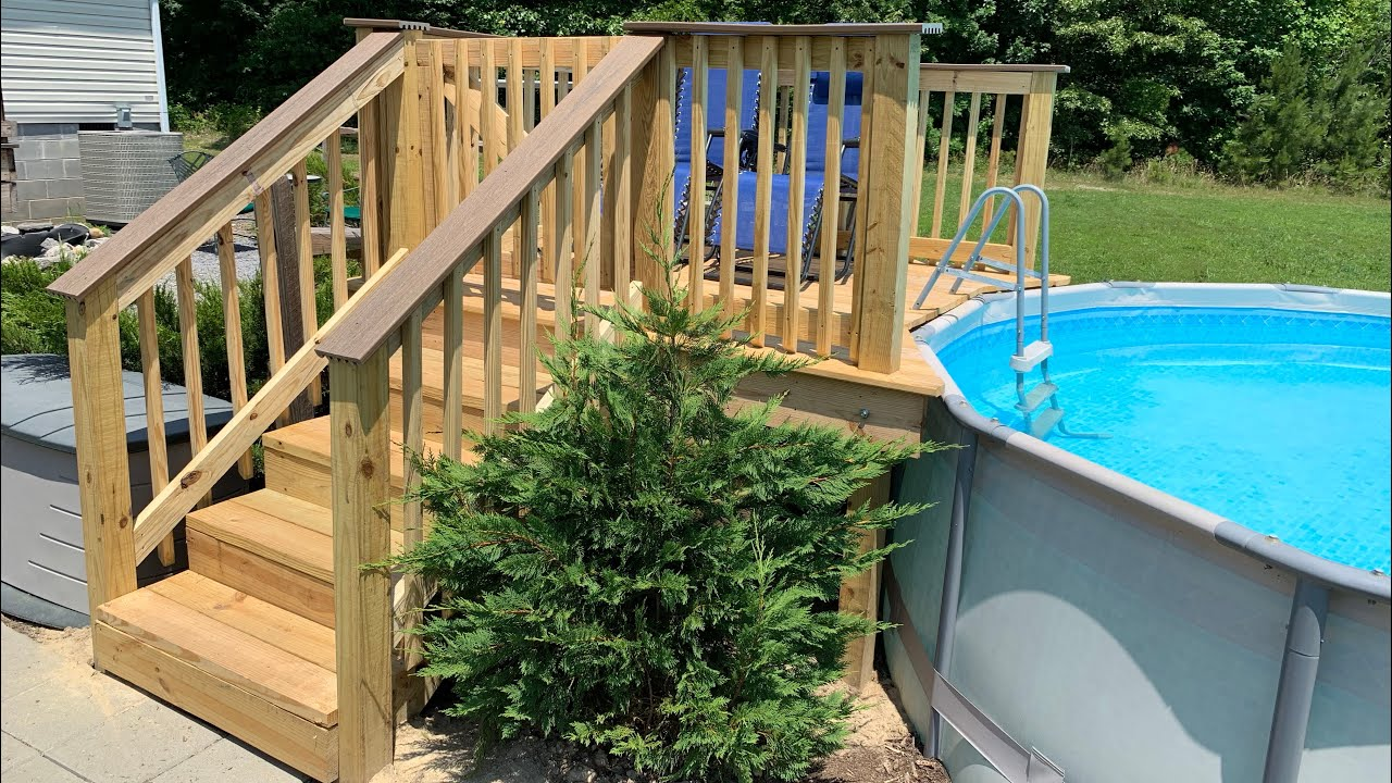 How To Build The Best Deck For Your Above Ground Pool Youtube