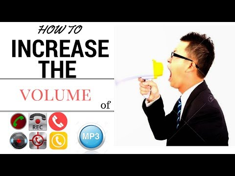 HOW TO INCREASE  THE VOLUME OF CALL RECORDER OR ANY MP3 USING ONLINE