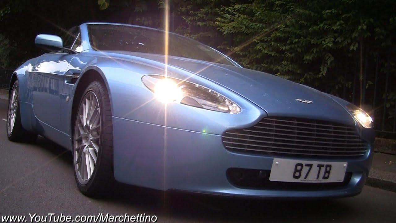 Aston Martin V8 Vantage Ride Accelerations Rev Tunnel Sound Youtube