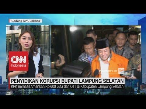 Status Tersangka, Bupati Lampung Selatan Ditahan KPK