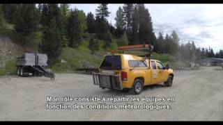 Road marking in British Columbia