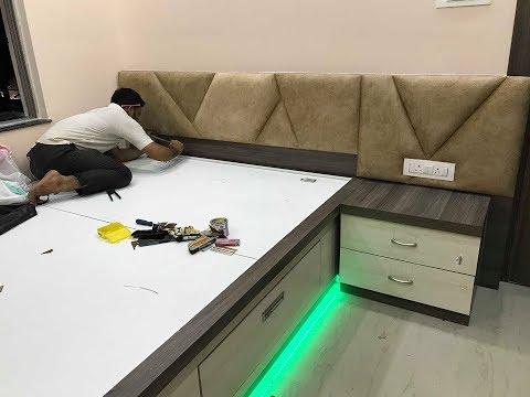 Bed का हैडबोर्ड पैडिंग कैसे बनाते है ? How To Make Bed's Headboard Padding   Interior Jagat