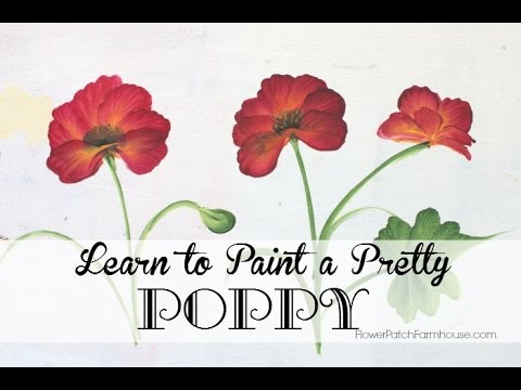 How to paint a pretty poppy or poppies youtube mightylinksfo