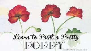 How to Paint a Pretty Poppy or Poppies