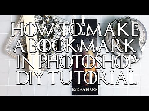 DIY: How to Make a Bookmark in Photoshop!