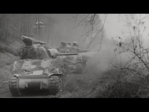 US Army Captures Frankfurt Drives Deeper into Germany March 1945 Footage