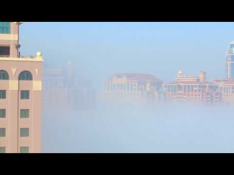 WINTER FOG in DOHA | A Timelapse Video 2016