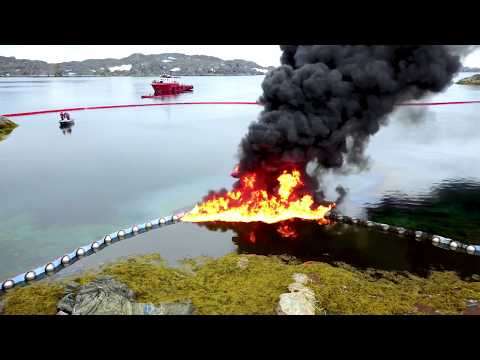 Combat of oil spills in Arctic waters - in situ burning experiments, Greenland. Summer 2017. GRACE