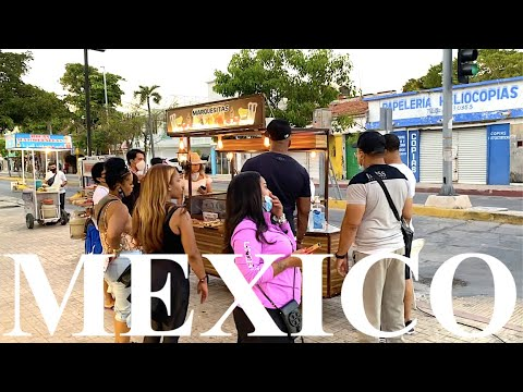 The Streets Of Playa Del Carmen | Evening Walk Through Town | MEXICO 🇲🇽