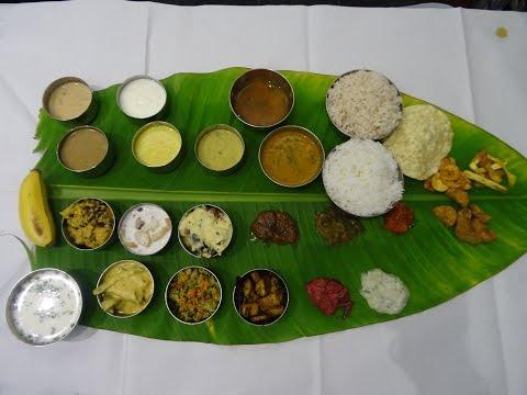 Massive 26 item Thali: South Indian Onam Sadhya (vegetarian feast) at Sangeetha restaurant, London.