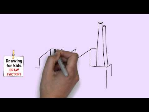 How to draw a factory easy for kids [Easy and simple drawing for kids]
