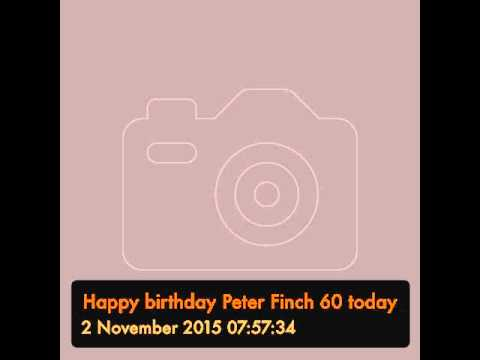 Happy birthday Peter Finch 60 today