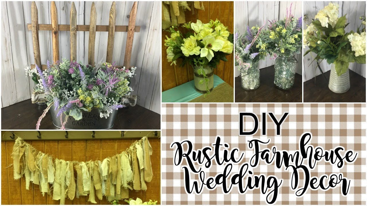 DIY Rustic Farmhouse Wedding Decor Wedding Decor on a