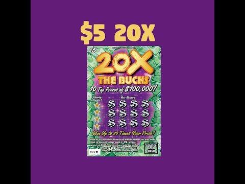 $5 20X The Bucks - PA Lottery - Scratcher Part #6
