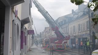 Incendie dans le centre-ville d'Évreux : plusieurs locataires évacués