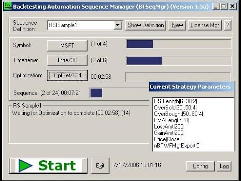 Portfolio Backtesting Sequence Manager (BTSeqMgr)