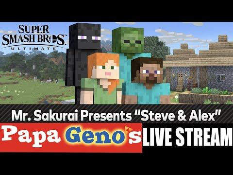 "Mr. Sakurai Presents ""Steve & Alex"" Live Stream – PapaGenos"