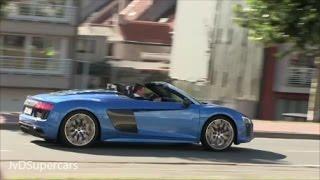 Supercars Accelerating! 918 Spyder, GTC4 Lusso, F12 TDF, Aventador SV, SL65 BS, Bentley GT3-R...
