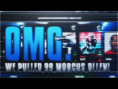 WE PULLED 99 MARCUS ALLEN!! THE BEST CARD IN THE GAME!! | Madden Mobile 17