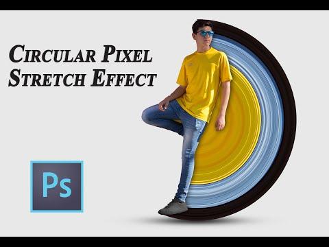 Photoshop Tutorial : Circular Pixel Stretch Effect thumbnail