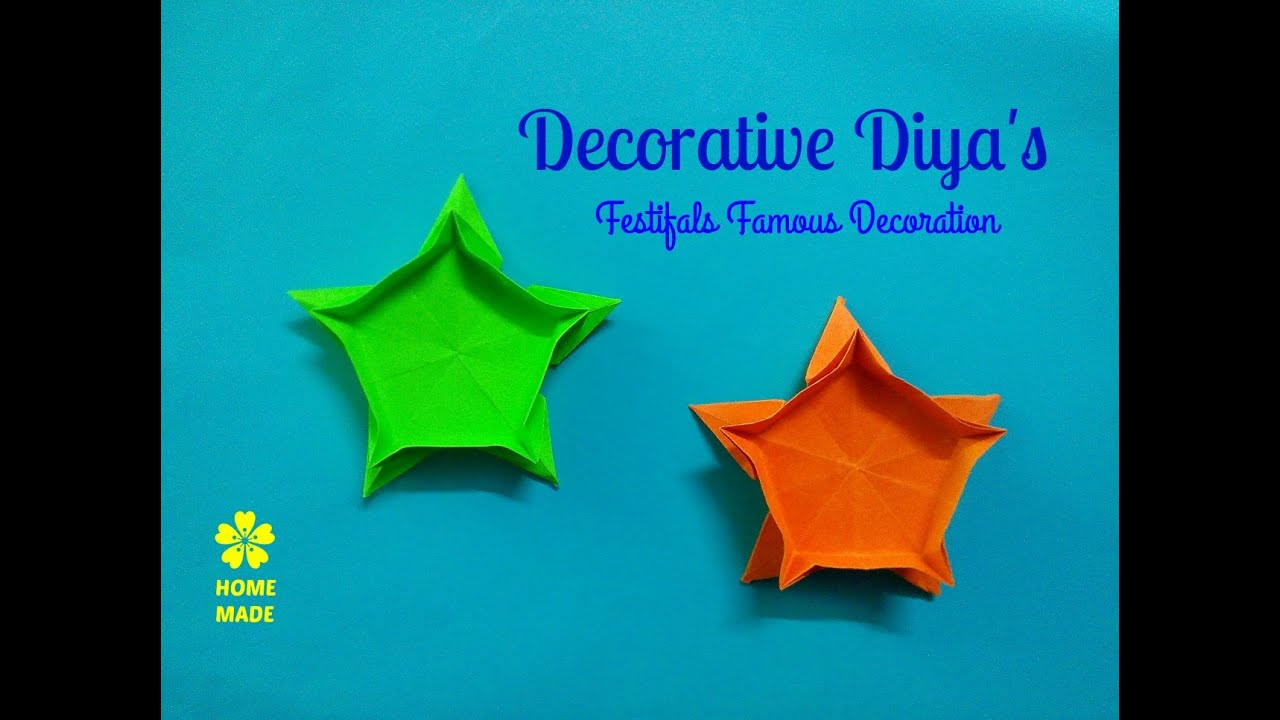 Diya 39 s for decoration easy and simple decoration youtube for Diya decoration youtube