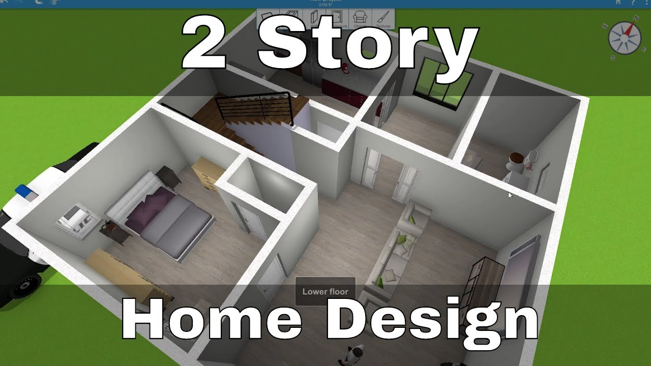 Awesome Two Story House Design Home Design 3d Youtube