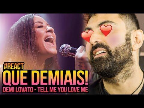 REAGINDO a Demi Lovato - Tell Me You Love Me (Acoustic)