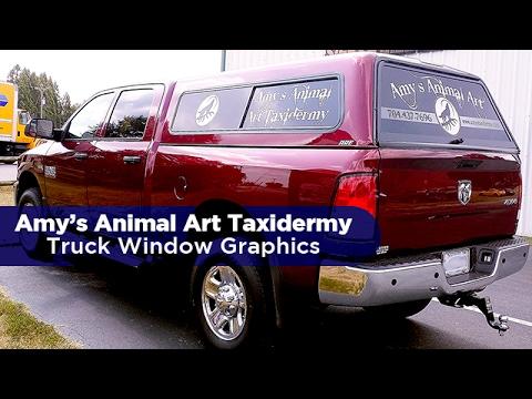 Amys Animal Art Taxidermy Truck Window Graphics Youtube