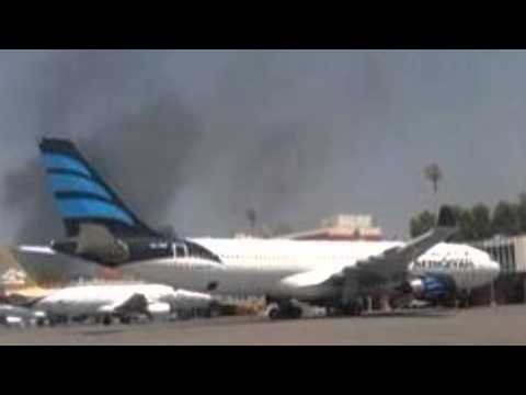 Rival Libyan Militias Battle For Tripoli Airport