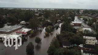 Drone video captures Florence flooding in North Carolina