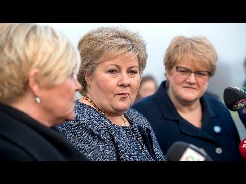 DIREKTE: Høyre, Frp og Venstre om regjeringsforhandlingene