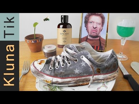 Eating a DIRTY SHOE!!! Kluna Tik Dinner #61 | ASMR eating sounds no talk
