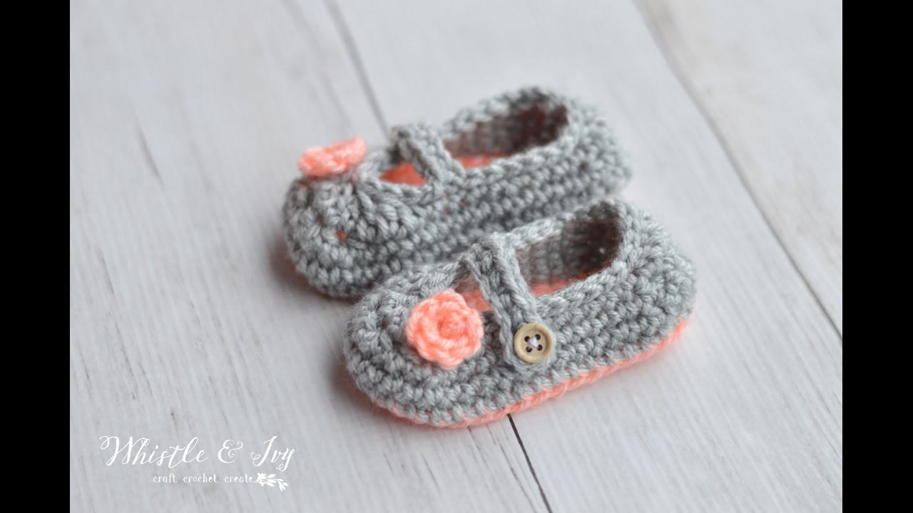 Two-Toned Mary Janes Crochet Pattern - YouTube
