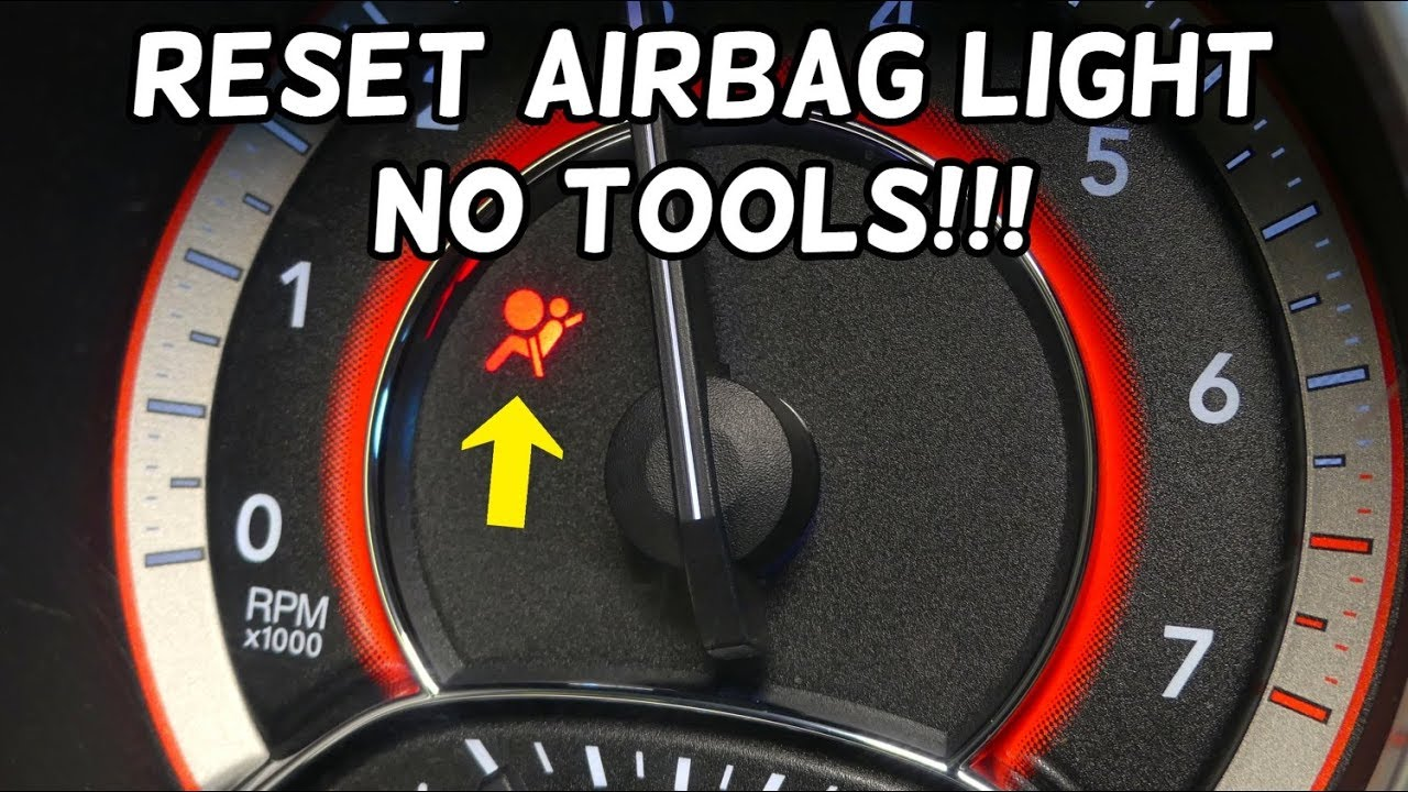 HOW TO RESET AIRBAG LIGHT NO TOOLS REQUIRED DODGE CHRYSLER JEEP FIAT