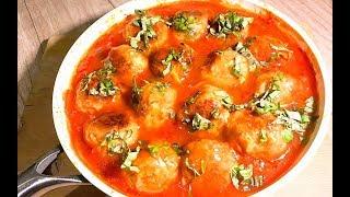 Как же это ВКУСНО! Кабачково-сырные шарики в томатном соусе!