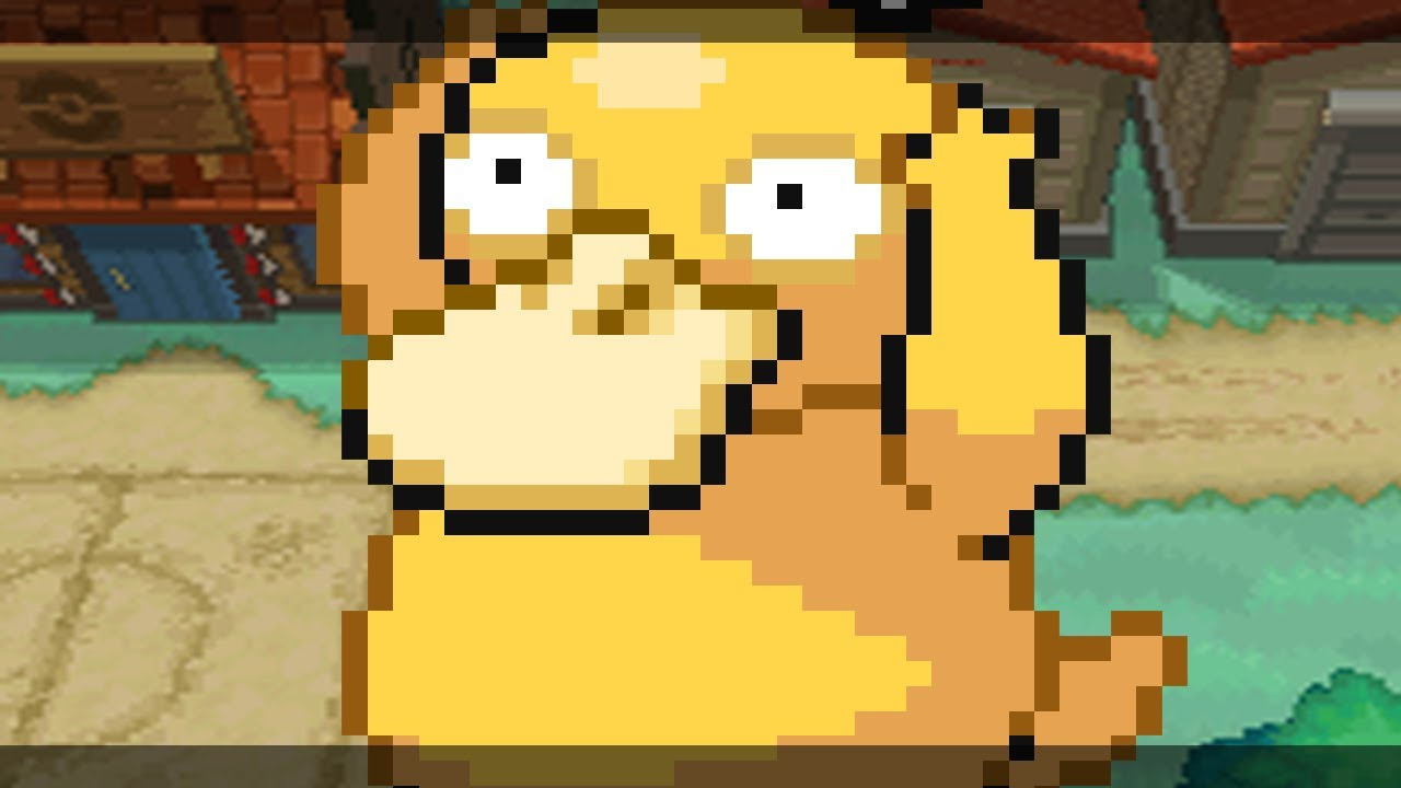 Shiny Psyduck Sprite to catchget - Psyduck in