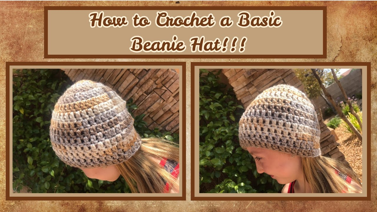 347511d63aa How to Crochet a Basic Hat
