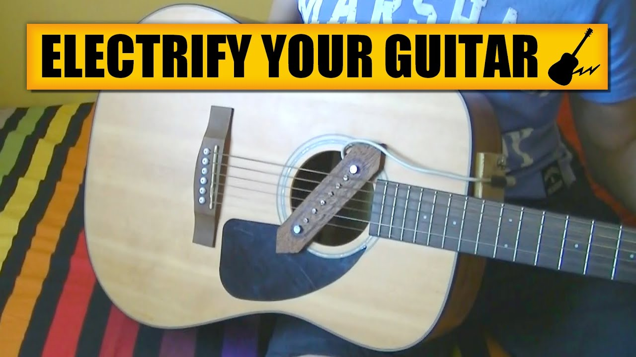 acoustic to electric guitar diy experiments 4 homemade pickup youtube. Black Bedroom Furniture Sets. Home Design Ideas
