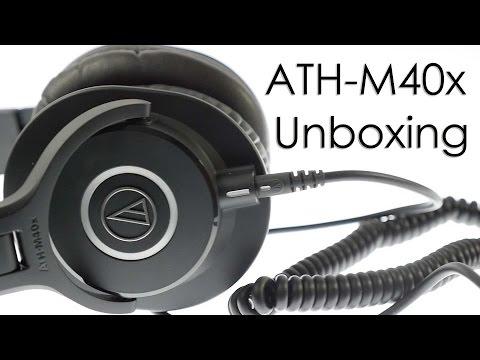 Audio Technica ATH M40X Headphones Unboxing