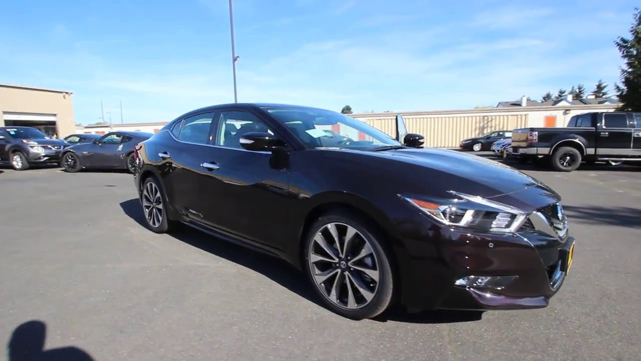 2016 nissan maxima sr bordeaux black gc429269 kent tacoma youtube. Black Bedroom Furniture Sets. Home Design Ideas