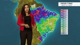 Como fica a  chuva no BR nos próximos dias