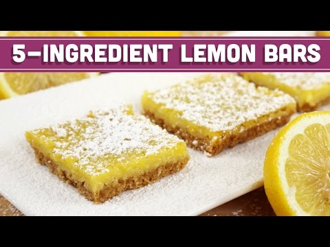 Healthy 5 Ingredient Lemon Bars REQUESTED RECIPE! Mind Over Munch