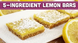 Healthy 5 Ingredient Lemon Bars - REQUESTED RECIPE! - Mind Over Munch
