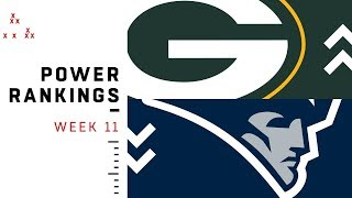 NFL Week 11 Power Rankings!