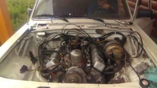 Первый пуск. Двс газ 53, V8 в газ 24,  5.5 литра