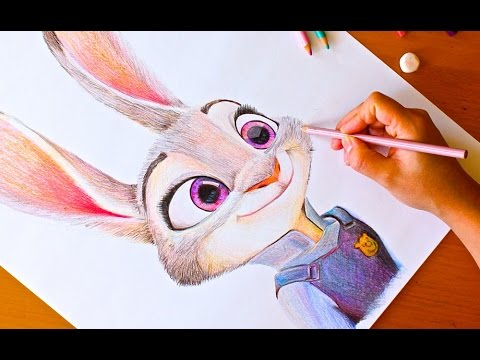 Drawing Judy Hopps Zootopia Budget Art Youtube