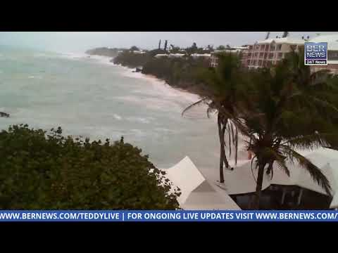 Live Video: Weather as Hurricane Teddy passes by Bermuda