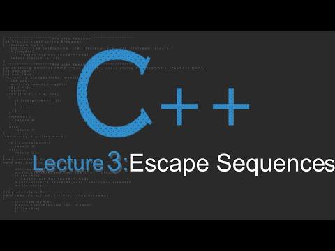 Escape Sequences - C++