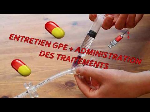 Entretien sonde type GPE + Administration des traitements